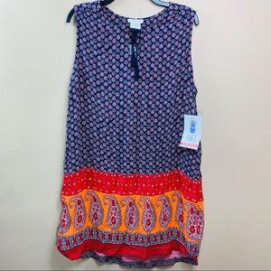 BEACHLUNCHLOUNGE Cover up indigo Saffie XL NWT$58